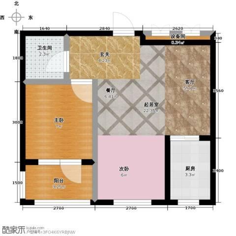 金湾山城1室0厅1卫1厨52.00㎡户型图