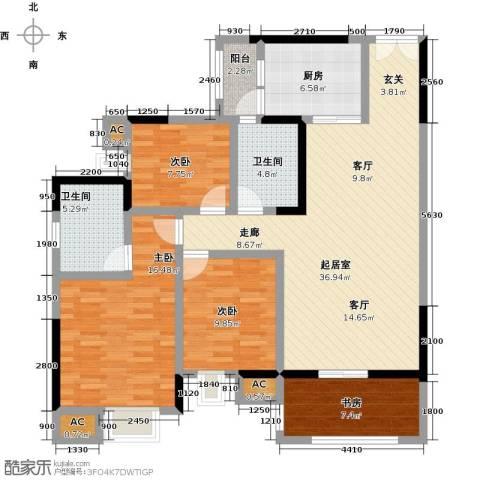 大信君汇湾4室0厅2卫1厨124.00㎡户型图