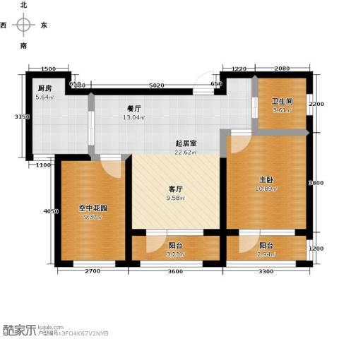 正源吉祥e家祥福园1室0厅1卫1厨68.75㎡户型图