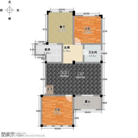 阳光地中海2室0厅1卫1厨123.00㎡户型图
