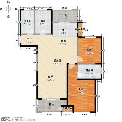 苏宁天�御城2室0厅2卫1厨154.00㎡户型图