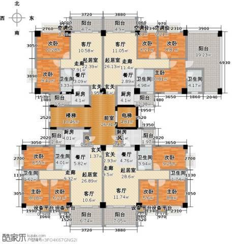 云山雅轩9室0厅7卫4厨466.00㎡户型图