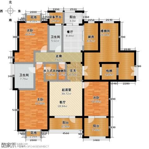 保亿丽景山3室0厅2卫1厨170.00㎡户型图
