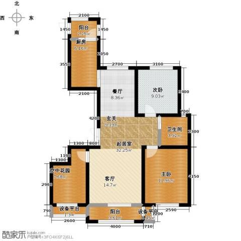 正源吉祥e家祥福园2室0厅1卫1厨92.40㎡户型图