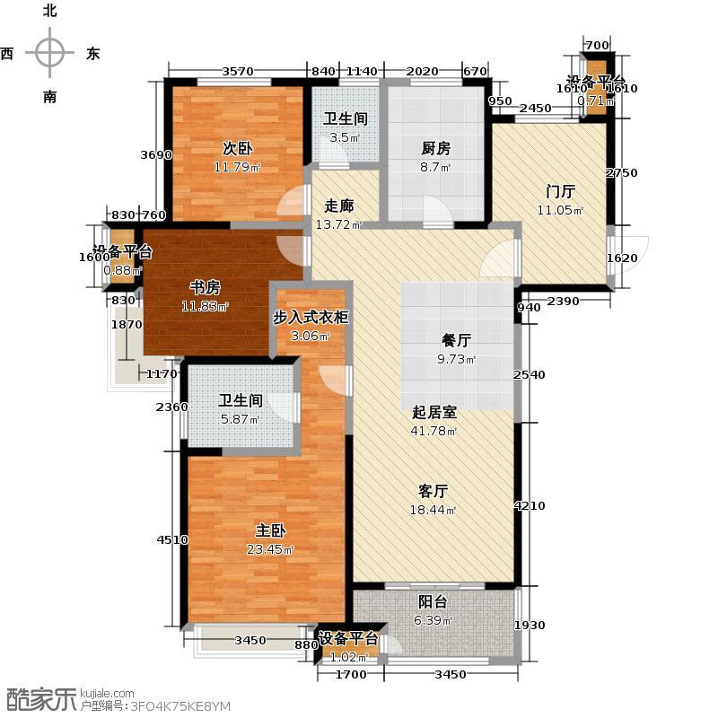 苏宁天�御城舒朗空间142.75-143.97平户型3室2厅2卫