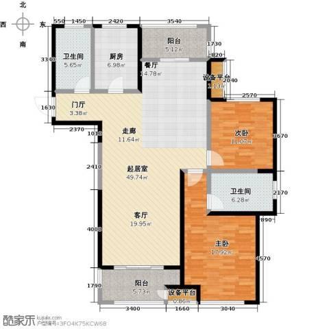 苏宁天�御城2室0厅2卫1厨155.00㎡户型图