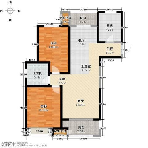 苏宁天�御城2室0厅1卫1厨129.00㎡户型图