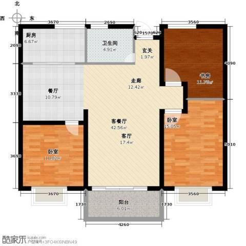 祥瑞家园1室1厅1卫1厨112.00㎡户型图