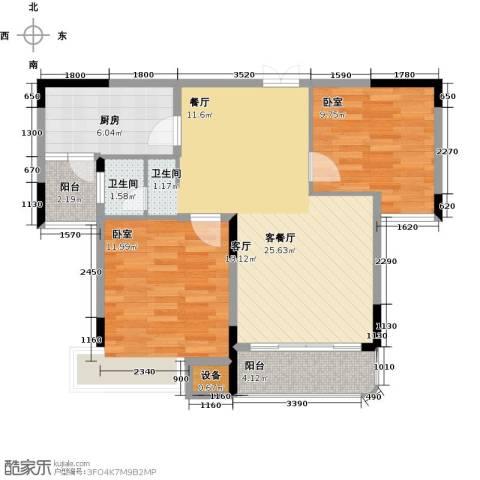 学府港湾1厅1卫1厨85.00㎡户型图