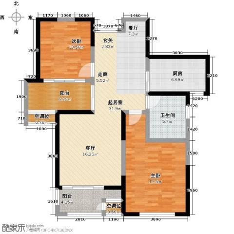 金世湾2室0厅1卫1厨89.00㎡户型图