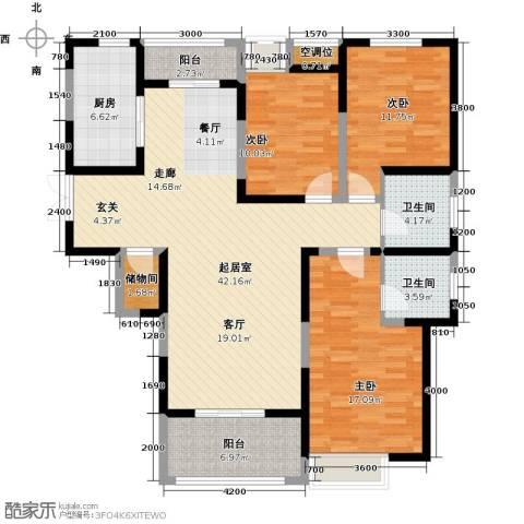 缤纷南郡3室0厅2卫1厨155.00㎡户型图