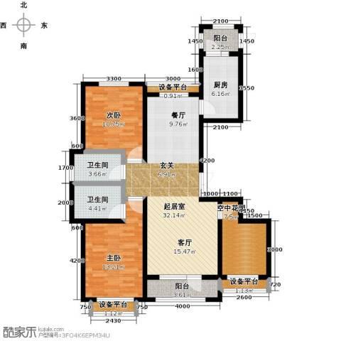 正源吉祥e家祥福园2室0厅2卫1厨103.28㎡户型图