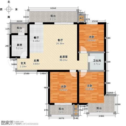 怡水花园三期3室0厅1卫1厨148.00㎡户型图