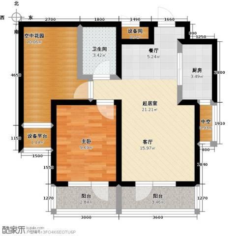 正源吉祥e家祥福园1室0厅1卫1厨68.99㎡户型图