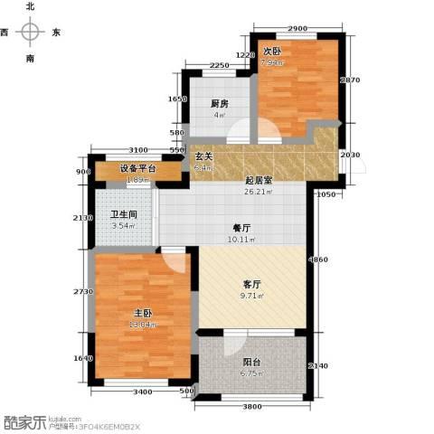保亿丽景山2室0厅1卫1厨78.00㎡户型图