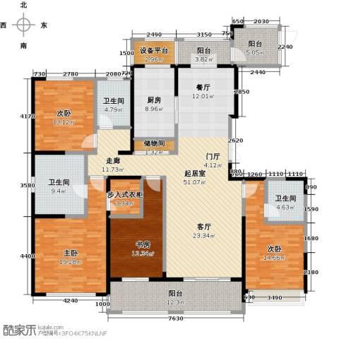 苏宁天�御城4室0厅3卫1厨236.00㎡户型图