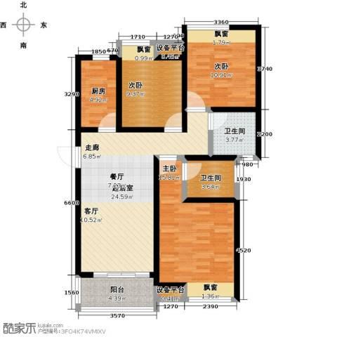 阳光北京城3室0厅2卫1厨115.00㎡户型图