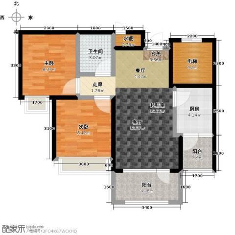 平谷蓝熙庭2室0厅1卫1厨69.00㎡户型图