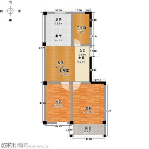 一品莲花城2室0厅1卫0厨87.00㎡户型图