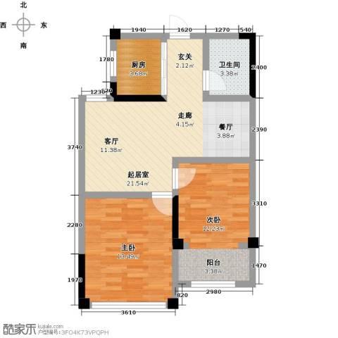 一品莲花城2室0厅1卫1厨79.00㎡户型图