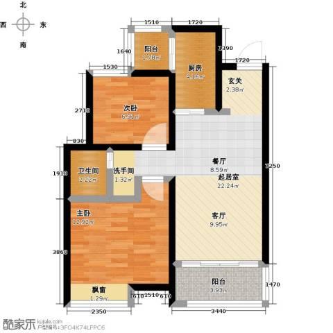 阳光北京城2室0厅1卫1厨81.00㎡户型图