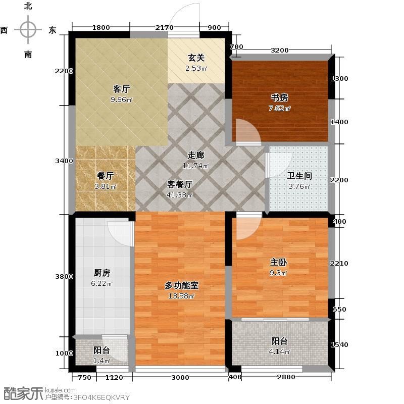 阳光100国际新城99.26㎡A10 三室两厅一卫户型3室2厅1卫