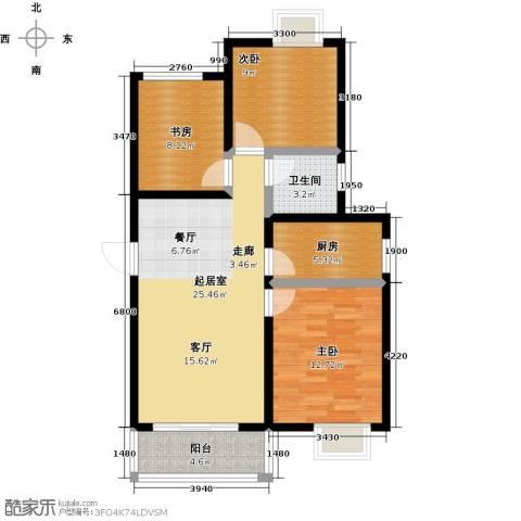 阳光北京城3室0厅1卫1厨99.00㎡户型图