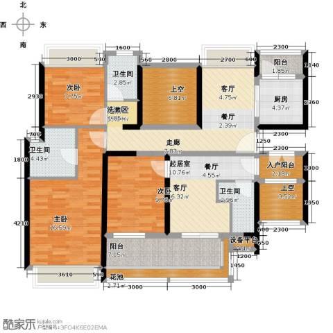 大东城3室0厅3卫1厨125.00㎡户型图