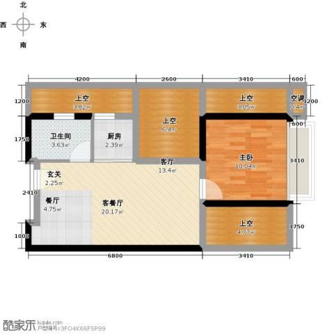 尚书银座1室1厅1卫1厨81.00㎡户型图