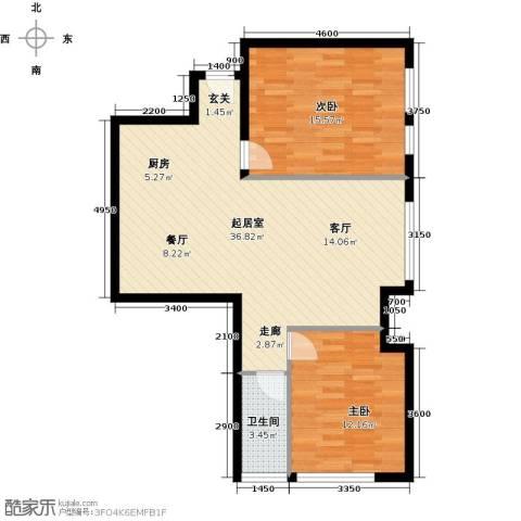 太伟方恒广场2室0厅1卫0厨98.00㎡户型图