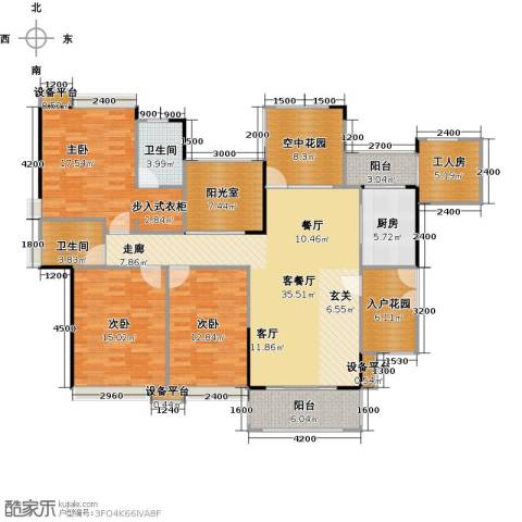 世纪城玫瑰公馆3室1厅2卫1厨179.00㎡户型图