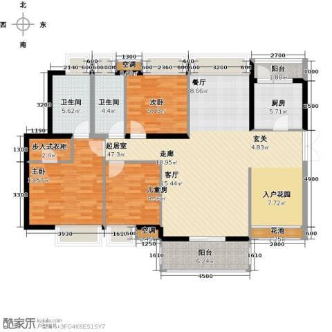 中熙弥珍道3室0厅2卫1厨133.00㎡户型图