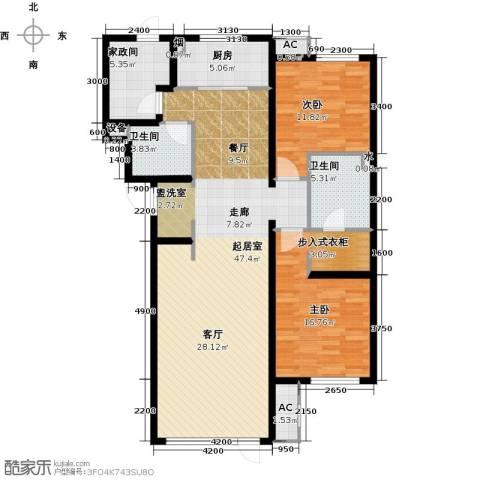 万科温莎堡2室0厅2卫1厨140.00㎡户型图