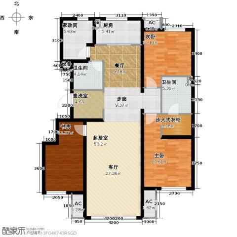 万科温莎堡3室0厅2卫1厨166.00㎡户型图