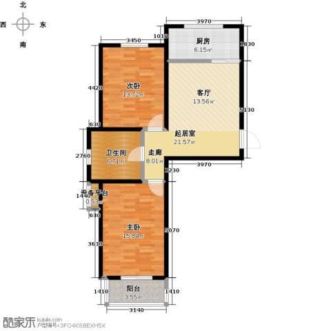 碧水蓝山2室0厅1卫1厨78.00㎡户型图