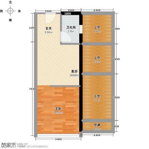 尚书银座1室0厅1卫0厨66.00㎡户型图
