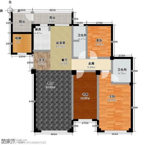 鼎盛佳苑3室0厅2卫0厨132.00㎡户型图
