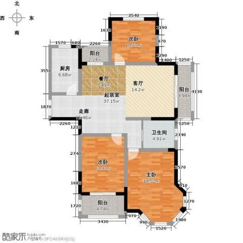 金美林花园3室0厅1卫1厨126.00㎡户型图