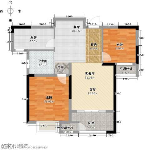 御景湾2室1厅1卫1厨83.00㎡户型图
