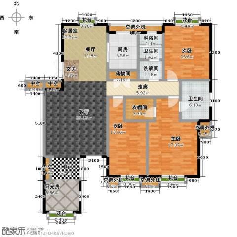 金石明珠3室0厅2卫1厨157.00㎡户型图