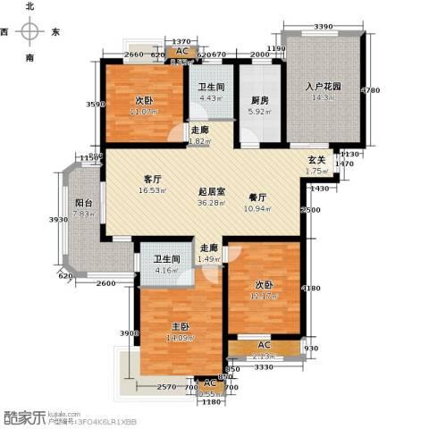 福德庄园3室0厅2卫1厨163.00㎡户型图