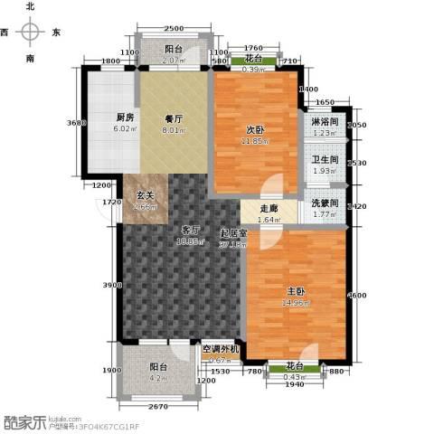 金石明珠2室0厅1卫0厨89.00㎡户型图