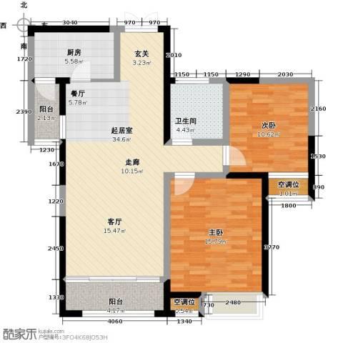 典雅花园2室0厅1卫1厨91.00㎡户型图