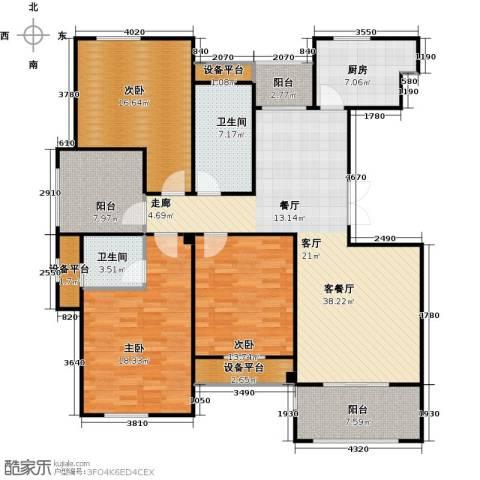 映像江南3室1厅2卫1厨139.00㎡户型图
