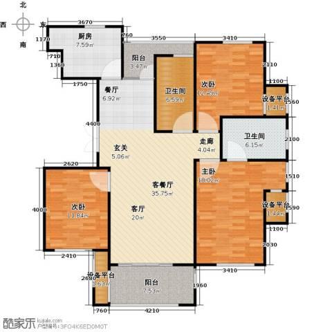 映像江南3室1厅2卫1厨123.00㎡户型图
