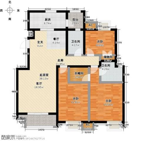 金隅悦城3室0厅2卫1厨145.00㎡户型图