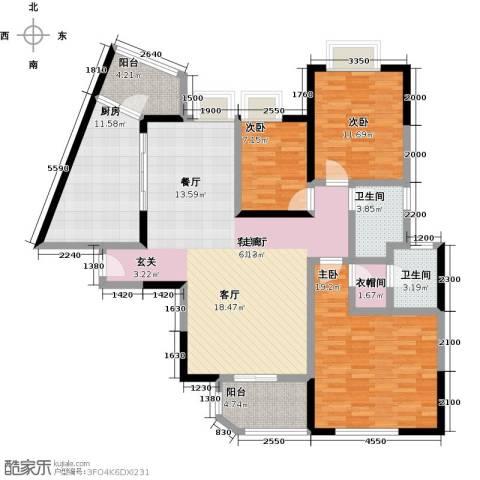 天骄峰景3室1厅2卫1厨157.00㎡户型图