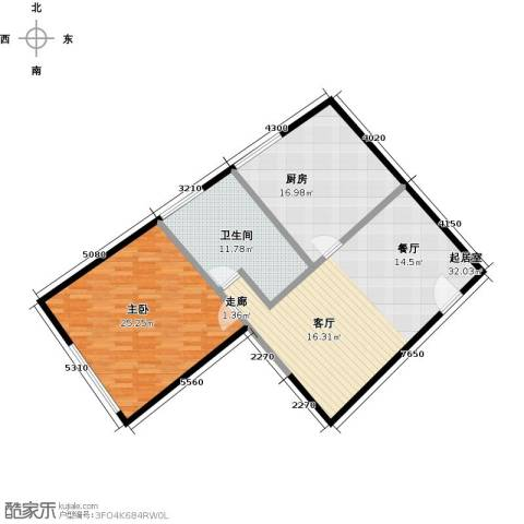 凯纳华侨城1室0厅1卫1厨118.00㎡户型图