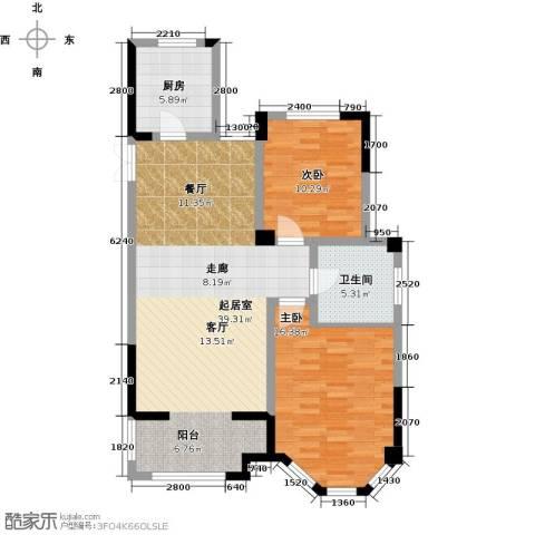 金美林花园2室0厅1卫1厨94.00㎡户型图