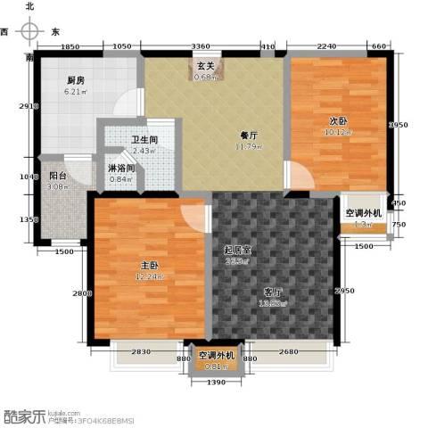 华发新城2室0厅1卫1厨89.00㎡户型图